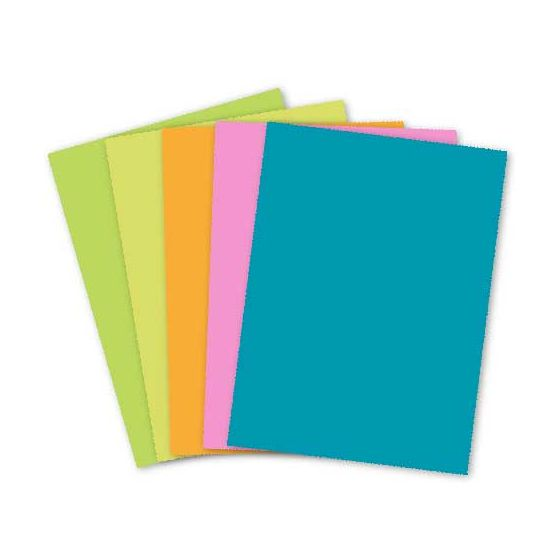 Mohawk BriteHue - 8.5 x 11 Card Stock Paper - Assorted Colors - 65lb Cover (Variety) - 125 PK