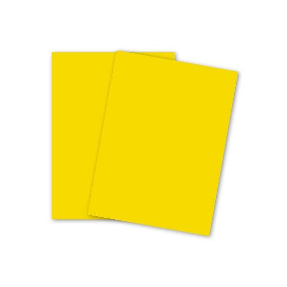 Mohawk BriteHue - SUN YELLOW - 8.5 x 11 Card Stock Paper - 65lb Cover - 250 PK