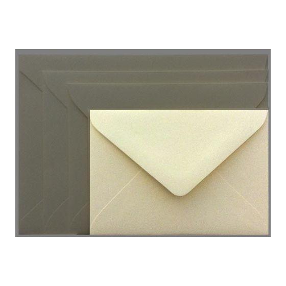 Mohawk Superfine SOFTWHITE Eggshell - 4 BAR Envelopes EURO FLAP (80T 3-5/8X5-1/8) - 25 PK [DFS]