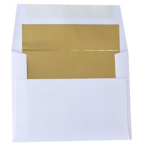 [Clearance] A2 FOIL LINED Envelopes - Ultrawhite 80T Envelopes with Gold Foil Lining - 50 PK