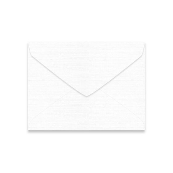 Mohawk VIA Linen - PURE WHITE - 5-1/2 BAR Envelopes - 1000 PK