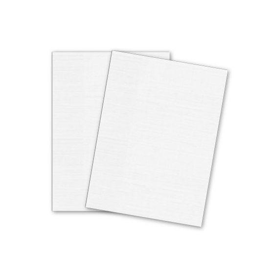Mohawk VIA Linen - 100% PC COOL WHITE - 8.5 x 11 Card Stock - 80lb Cover - 250 PK [DFS-48]