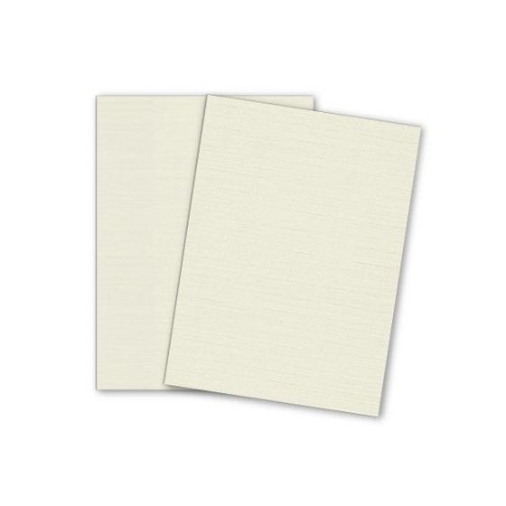 Mohawk VIA Linen - NATURAL - 8.5 x 11 Card Stock - 80lb Cover - 25 PK [DFS]
