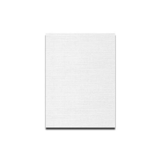 Neenah CLASSIC LINEN 8.5 x 11 Card Stock - Recycled 100 Natural White - 80lb Cover - 250 PK [DFS-48]