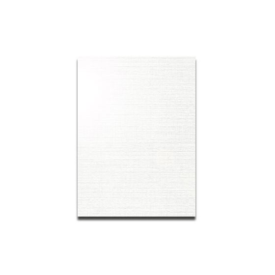 CLASSIC LINEN 8.5X11 Card Stock - White Pearl - 115lb Cover - 125 PK [DFS-48]