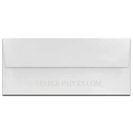 100% Cotton No. 10 Envelopes (4.125-x-9.5) - Savoy Bright White - 25 PK