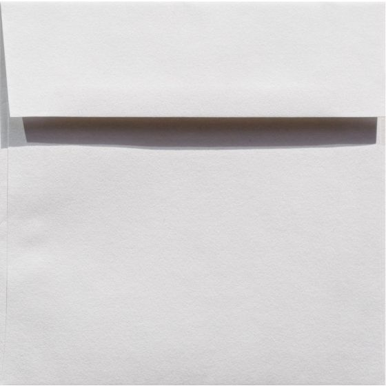 100% Cotton 6.5 Square Envelopes (6-1/2-x-6-1/2) - Savoy Bright White - 25 PK [DFS]