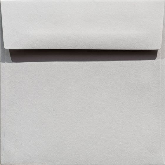 100% Cotton 6.5 Square Envelopes (6-1/2-x-6-1/2) - Savoy Soft Grey - 250 PK [DFS-48]