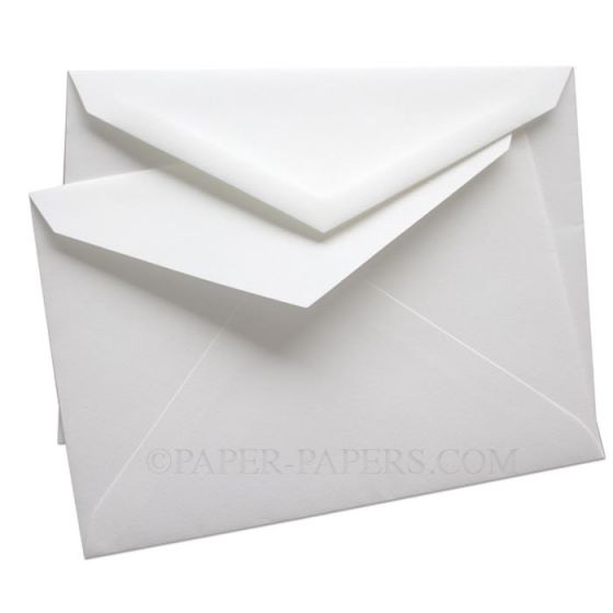 100% Cotton Windsor INNER Envelopes (6-x-8.25) - Savoy Brilliant White - (ungummed) - 250 PK
