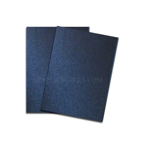 Shine MIDNIGHT Blue - Shimmer Metallic Card Stock Paper - 8.5 x 11 - 107lb Cover (290gsm) - 100 PK