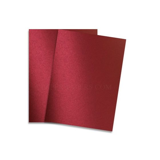 Shine RED SATIN - Shimmer Metallic Paper - 8.5 x 11 - 80lb Text (118gsm) - 25 PK [DFS]