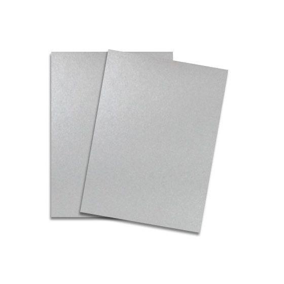 Shine SILVER - Shimmer Metallic Card Stock Paper - 8.5 x 11 - 92lb Cover (249gsm) - 100 PK