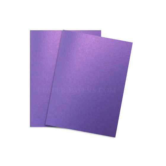 Shine VIOLET SATIN - Shimmer Metallic Card Stock Paper - 8.5 x 11 - 92lb Cover (249gsm) - 100 PK [DFS-48]