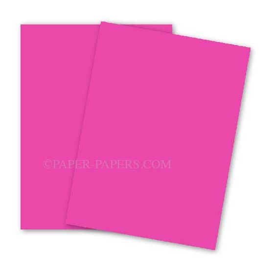 Astrobrights 11X17 Card Stock Paper - Fireball Fuchsia - 65lb Cover - 250 PK
