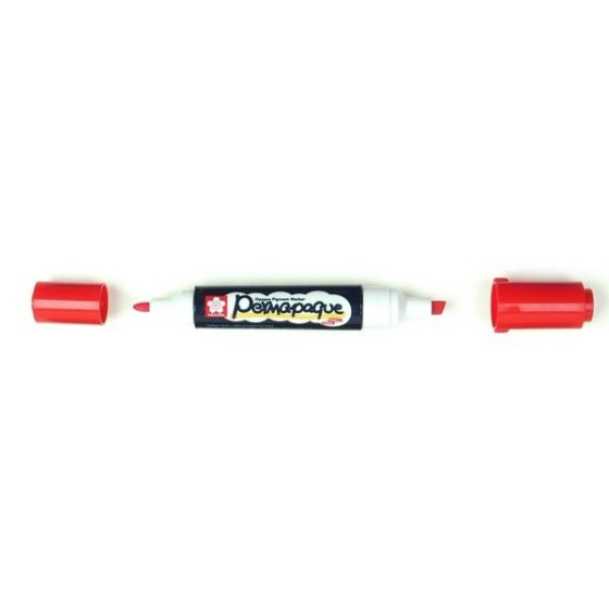 [Clearance] Permapaque DUAL Point Pigment Marker - RED