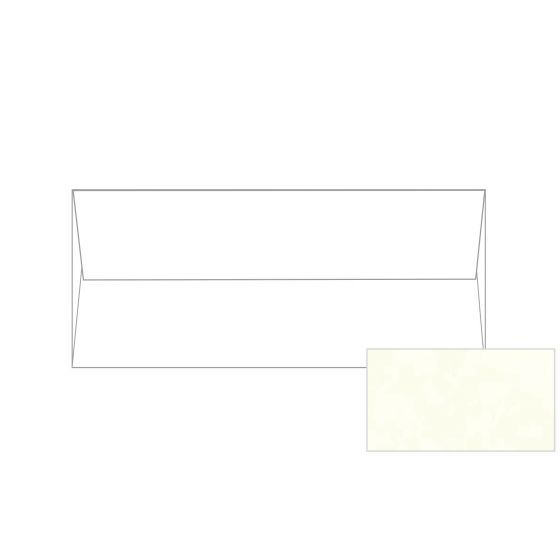 Astroparche - White No. 10 Square Flap Envelopes (4.125-x-9.5-inches) - 2500 PK
