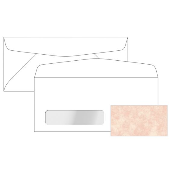 Astroparche - Shell No. 10 Commercial Canadian Window Envelopes (4.125-x-9.5-inches) - 2500 PK