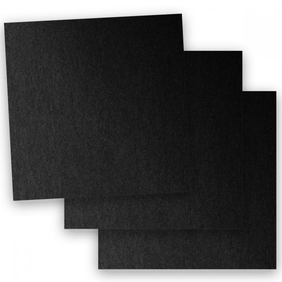 Stardream Metallic - 12X12 Card Stock Paper - ONYX - 105lb Cover (284gsm) - 100 PK [DFS-48]