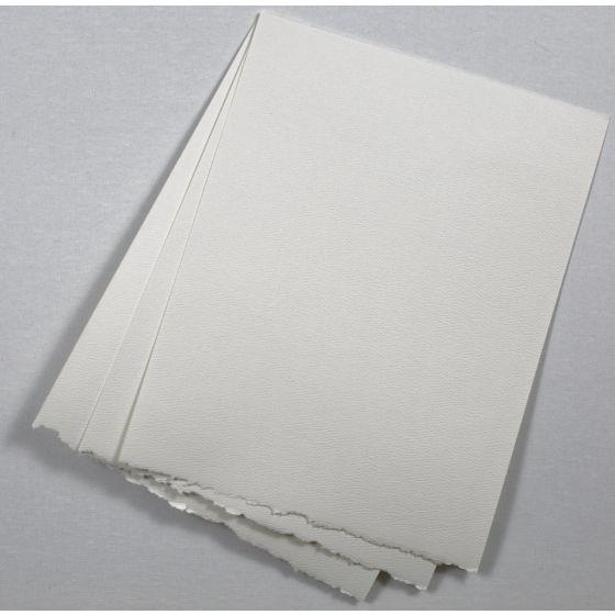 Soft White Deckled Edge Paper