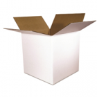 8 x 8 x 8 White Corrugated Shipping Boxes 8x8x8 (White 200# / 32 ECT) - 25-PK