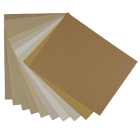 Crafters Pure Hues - Shade of KRAFT - 8.5 x 11 Cardstock Paper Pack (10 colors / 5 each) - 50 PK
