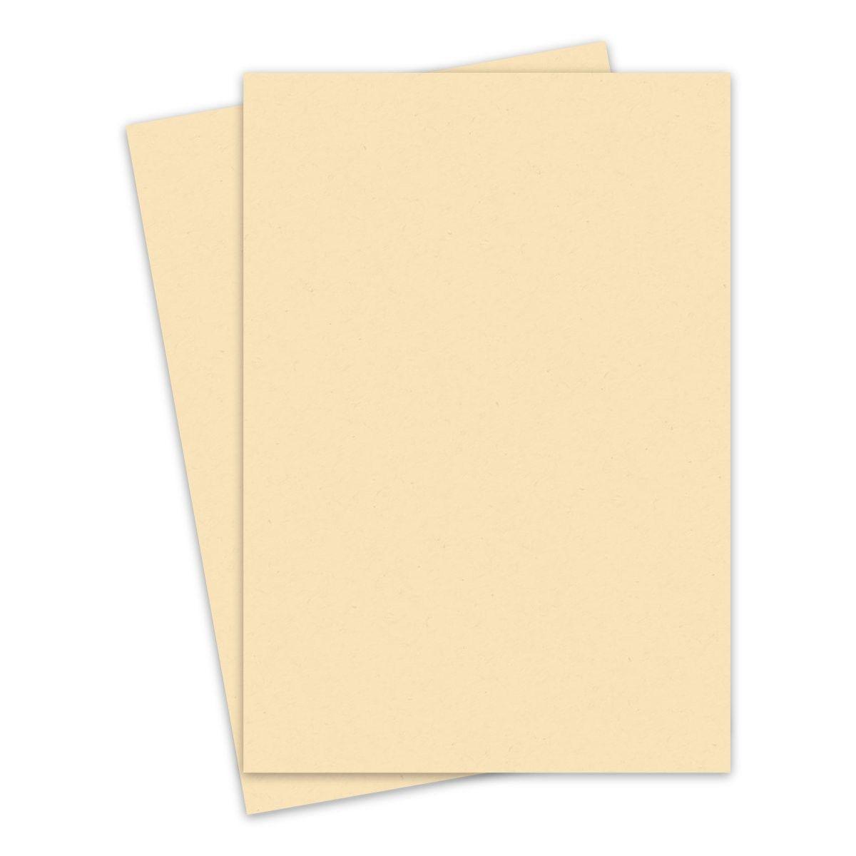 KRAFT-TONE Manila Yellow Kraft Cardstock Paper- 5.5 x 5 Legal Size - 5lb  Cover - 5 PK