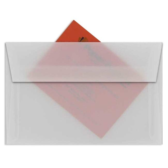 white translucent vellum a2 envelopes 250 pk
