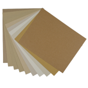 Crafters Pure Hues - Shade of KRAFT - Cardstock Paper Pack (10 colors / 5 each) - 50 PK