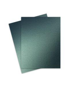 Shine MOSS Green - Shimmer Metallic Card Stock Paper - 8.5 x 11 - 107lb Cover (290gsm) - 25 PK