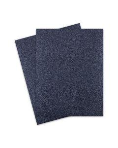 Glitter Paper - Glitter BLACK-reflective hues (1-Sided) 8.5X11 Letter Size - 10 PK