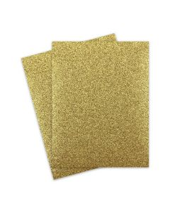 Glitter Paper - Glitter GOLD (1-Sided) 8.5X11 Letter Size - 10 PK [DFS]