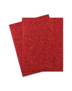 Glitter Paper - Glitter RED (1-Sided) 8.5X11 Letter Size - 10 PK [DFS]