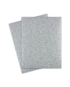 Glitter Paper - Glitter SILVER (1-Sided) 8.5X11 Letter Size - 10 PK