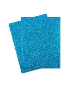 Glitter Paper - Glitter TEAL BLUE (1-Sided) 8.5X11 Letter Size - 10 PK [DFS]