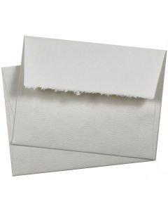 Deckled Edge A2 Envelopes (4.375-x-5.75) - Soft White 80T Premium Pastelle - 1000 PK [DFS-48]