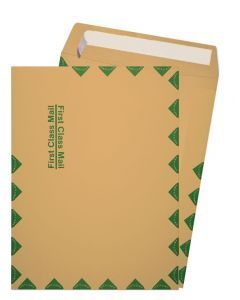9-1/2-X-12-1/2 First Class Catalog Envelopes - 28lb BROWN KRAFT - Peel to Seal - (9.5 x 12.5) - 500 PK [DFS-48]