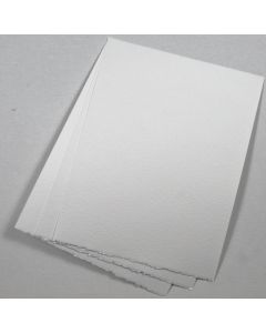 Bright White Deckled Edge Paper