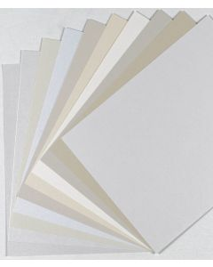 FAVORITE PAPERS - Shimmer White & Natural - 8.5 x 11 Cardstock - TRY-ME Pack