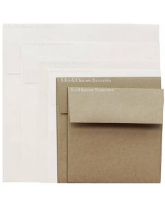 Brown Bag Envelopes - KRAFT - 5.5 in Square Envelopes - 25 PK