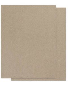 Brown Bag Paper - KRAFT - 8.5 x 11 - 130lb DT COVER - 50 PK