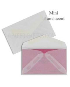 MINI Envelopes - 1000 PK - Professional MINI (2.125-in x 3.625-in) - 29# Clear Translucent [DFS-48]