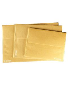 FAV Shimmer PURE GOLD - A7 Envelopes (5.25-x-7.25) - 50 PK [DFS]
