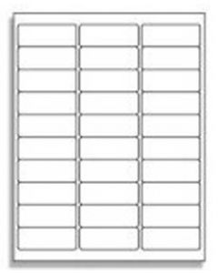 30 UP Address Labels - 5160 Compatible - 30 Labels per Sheet / 25 Sheets