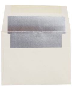 [Clearance] A2 FOIL LINED Envelopes - Soft White 80T Envelopes with Silver Foil Lining - 50 PK