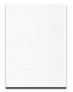 Neenah CLASSIC LINEN 8.5 x 11 Card Stock - Avon Brilliant White - 80lb Cover - 250 PK [DFS-48]