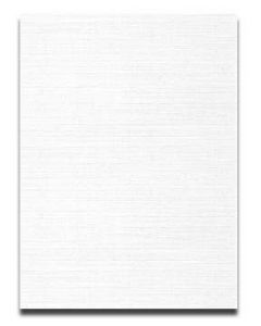 Neenah CLASSIC LINEN 8.5 x 11 Card Stock - Solar White - 80lb Cover - 250 PK [DFS-48]