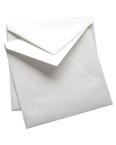 100% Cotton Royal 7-1/4 Square Envelopes (7.25-x-7.25) - Savoy Brilliant White (ungummed) - 25 PK [DFS]