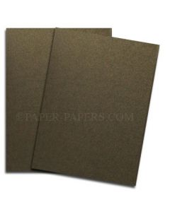 Shine BRONZE - Shimmer Metallic Card Stock Paper - 8.5 x 11 - 107lb Cover (290gsm) - 100 PK [DFS-48]