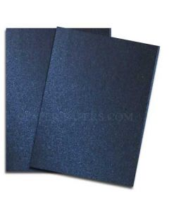 Shine MIDNIGHT Blue - Shimmer Metallic Card Stock Paper - 8.5 x 11 - 107lb Cover (290gsm) - 500 PK [DFS-48]