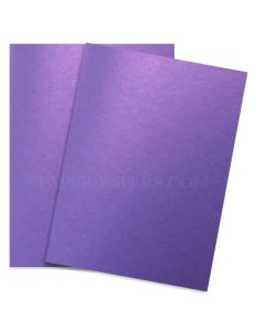 Shine VIOLET SATIN - Shimmer Metallic Card Stock Paper - 8.5 x 11 - 92lb Cover (249gsm) - 500 PK [DFS-48]